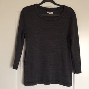 Madewell Side Button Thermal Tee in Charcoal Grey